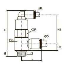 7892 Управляемый обратный клапан, наружная резьба BSPP