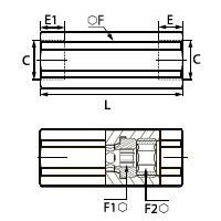 7930 Регулируемый управляющий клапан, двойная внутренняя резьба BSPP и метрическая