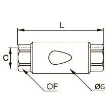 4890 Обратный клапан, внутренняя резьба BSPP
