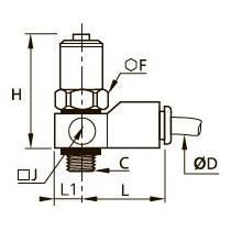 7860 Фитинг плавного пуска для отсечного клапана, наружная резьба BSPP