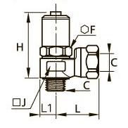 7861 Фитинг плавного пуска для отсечного клапана, наружная/внутренняя резьба BSPP