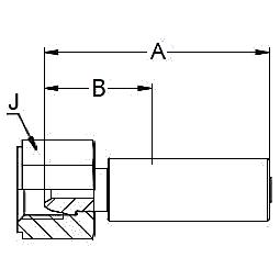 1U0TX – Внутренний вертлюжного соединения по стандарту BSP (сферический)