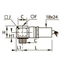 7828 Пневматический/электрический датчик давления, наружная/внутренняя резьба BSPP и метрическая
