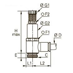 7300 Регулятор давления, наружная резьба BSPP