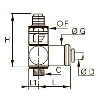 7318 Редуктор давления «банджо», наружная резьба BSPP