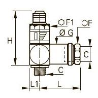 7471 Редуктор давления «банджо», наружная/внутренняя резьба BSPP