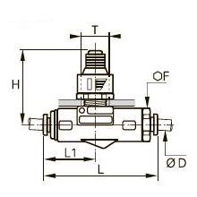 7316 Продольный редуктор давления «трубка-трубка»