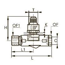 7416 Продольный редуктор давления, внутренняя резьба BSPP