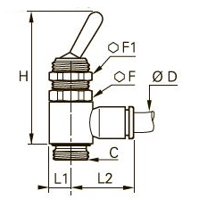 7800 3/2 Клапан с ручным переключением, подача, наружная резьба BSPP и метрическая
