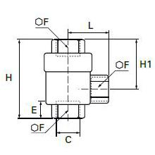 7970 Угловой клапан быстрого выхлопа, внутренняя резьба BSPP и метрическая