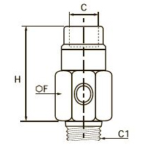 7971 Угловой клапан быстрого выхлопа, наружная резьба BSPT/внутренняя резьба BSPP