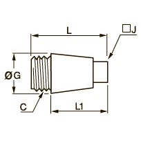 0670 Заглушка с резьбовым штуцером, наружная резьба BSPP