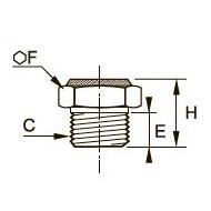 0673 Компактная заглушка, наружная резьба BSPP и метрическая