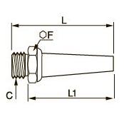 0675 Заглушка с резьбовым штуцером, наружная резьба BSPP и метрическая