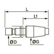0671 Заглушка с цанговым соединением