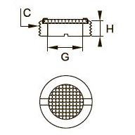0677 Миниатюрная заглушка, наружная резьба BSPP