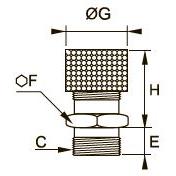 0672 Заглушка с функцией регулировки расхода, наружная резьба BSPP