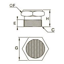 0682 Компактная заглушка, наружная резьба BSPP