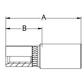 6HYPL – Внутренний с левой резьбой для водоструйной форсунки