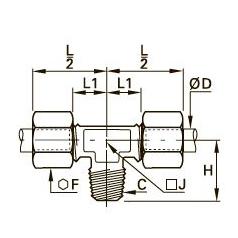 0108 T-образный тройник ввертный, наружная резьба BSPT