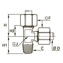 0103 T-образный тройник ввертный с боковым отводом, наружная резьба BSPT
