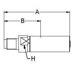 1YZTX – Наружный штуцер форсунки с метрической резьбой