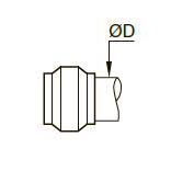0124 Латунное обжимное кольцо