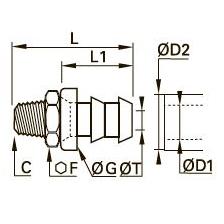 0134 Самозакрепляющийся каучуковый соединитель типа