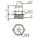 3101 Ввертный штуцер, наружная резьба BSPP и метрическая