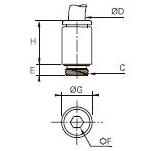 3181 Ввертный штуцер с округлым корпусом, наружная метрическая резьба
