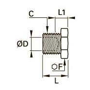 0125 Концевая трубная заглушка для компрессионного фитинга