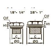 0220..39 Заглушка с шестигранной головкой, уплотнение из двух материалов, наружная резьба BSPP
