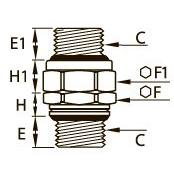 0151..39 Прямой адаптер с вращающимся корпусом, уплотнение из двух материалов, наружная резьба BSPP
