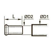 0127 Опорная втулка для полимерных трубок