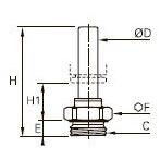 3131 Штуцер с отводом, наружная резьба BSPP и метрическая