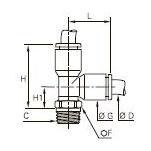 3103 Тройник ввертный с боковым отводом, резьба BSPT