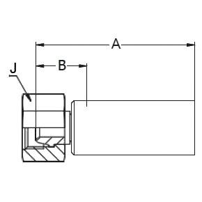 1C38X – Метрический внутренний вертлюжного соединения легкой серии