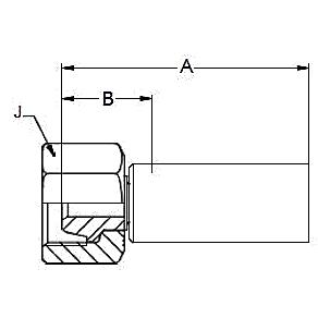 1C68X – Метрический внутренний вертлюжного соединения тяжелой серии