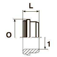 TPL Метрическая трубная втулка. Сталь