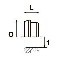 TPL Дюймовая трубная втулка. Сталь