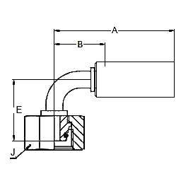 11C8X – Метрический внутренний вертлюжного соединения тяжелой серии с кольцевым уплотнением, угловой фитинг 90° ISO 12151-2
