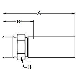 1D28X – Метрический наружный тяжелой серии ISO 12151-2