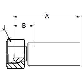 1928X – Внутренний вертлюжного соединения по стандарту BSP (конус 60°)
