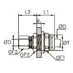 3146 Соединитель переборочный проходной комбинированный
