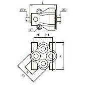 3144 Соединение Y-образное многоотводное, проходное и переходное