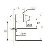 3184 Угольник вставной проходной и переходный, удлиненный