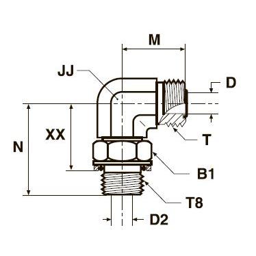 C8OMLO Фитинг ввертной угловой регулируемый