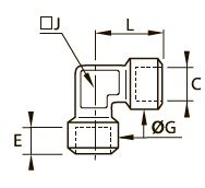 0143 Резьбовое колено для труб равного сечения, внутренняя резьба BSPP