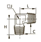 0152 Колено для труб равного сечения, наружная резьба BSPT
