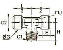 0158 Компрессионный тройник, наружная резьба BSPT/внутренняя BSPP
